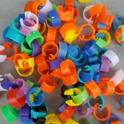 100X 6mm MIXED-COLOUR LEG RINGS POULTRY CHICKEN PHEASANT DUCK Rings Band Tags