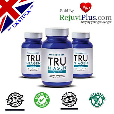 Tru Niagen® by Chromadex Anti-aging Nicotinamide Riboside (NR) Boost NAD 3 Stack