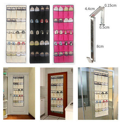 20 Pocket Hanging Over Door Shoe Organiser Storage Rack Tidy Space Saver Fabric