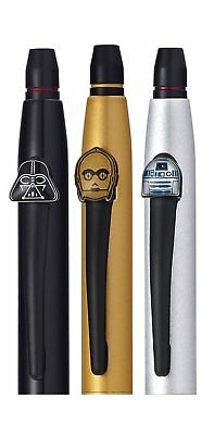 Cross 9857M3 Star Wars Characters Gel Ink Click Pens 3 Pack in 3 Colors in Box