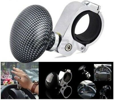 Knob Handle Spinner Steering wheel Assistance for car Boat Truck Carbon