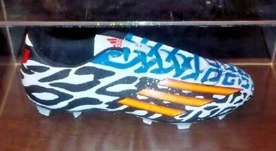 LIONEL MESSI signed auto CLEAT SHOE 2014 WORLD CUP FCB MATCH WORN COA  Argentina 1825bf2ce544e