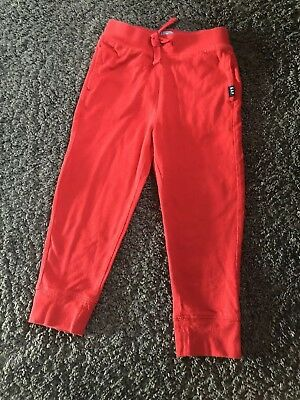 Baby Gap Boys Red Thin Jogging Bottoms Age 3