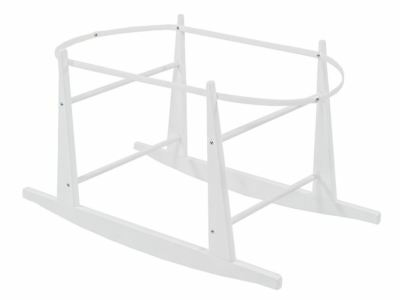 Shnuggle Rocking Moses Basket Stand WHITE Help Rock Baby When Sleeping NEW