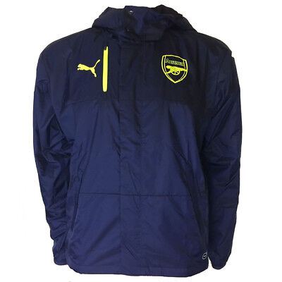 1883ac06e586 Arsenal FC Puma Mens Performance Rain Jacket Blue Football Training 2016  Small