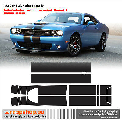 2008-2014 Dodge Challenger SXT RT SRT8 ABumble Bee Belt Racing Stripes #8