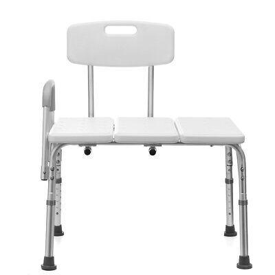 Adjustable Shower Chair Seat Stool Bathroom Bath Transfer Bench Aid Aluminium