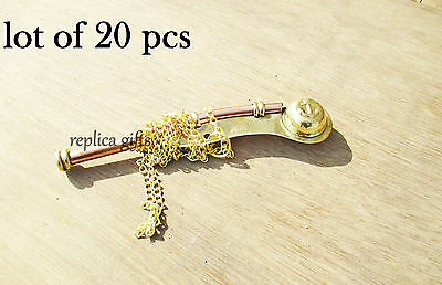 nautical brass key ring&whistle knife chain gifts lot of 20 pcs