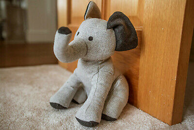 Heavy Fabric Elephant Novelty Door Stop Stopper Wedge Animal Cuddly Toy Tweed