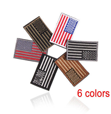 5cm * 8cm Patriotic Embroidered American Flag Patch USA Military Patch Sewing