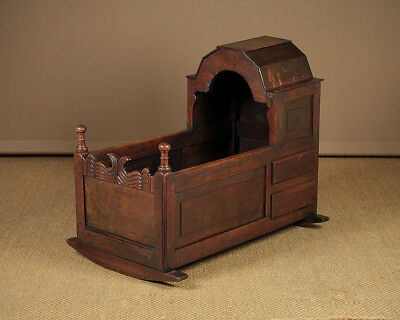 Antique 18th.c. Oak Rocking Cradle c.1780.