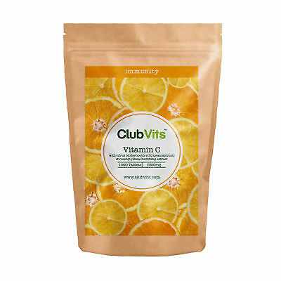 Club Vits - Vitamin C 1000mg with Rosehip & Bioflavonoids - 1000 Tablets