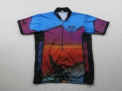 Vtg Mens Denver Post Ride The Rockies Colorado Coors Sz XL Bike Cycling  Jersey 803752856