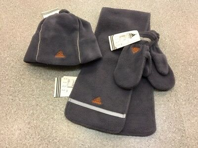 Adidas Completo Baby Guanti+Sciarpa+Cappello Pile Infant Set Gloves+Scarf+Hat