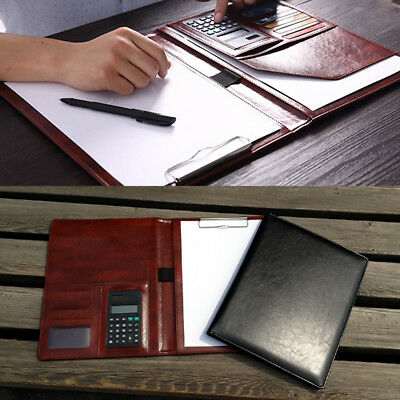 PU Leather Document Organiser A4 Business Conference Portfolio Folder