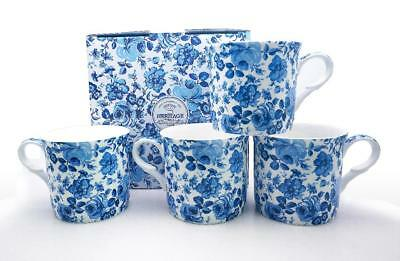Fine Bone China Set Of 4 Gift Boxed Mugs Chatsworth  Design