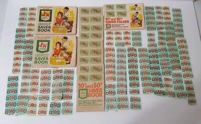 Big lot of 23 Vintage S&H Green Stamps Quick Saver Books & over 170 Loose stamps