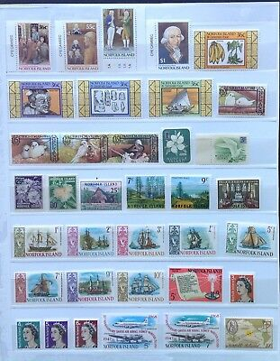 NORFOLK ISLAND Mint Never Hinged - 113 Stamps & 3 M/S