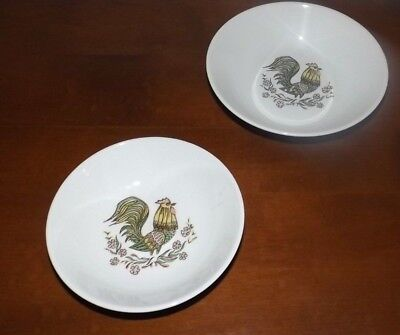 2 Vintage Taylor Smith Taylor TS&T Rooster Cereal Bowl & Berry Bowl USA