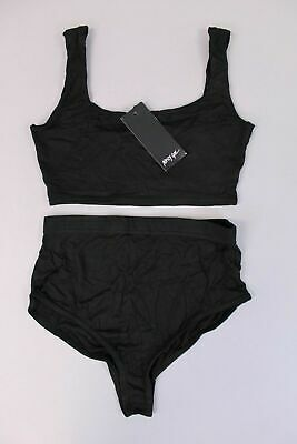 29be5fdc1f Boohoo Women s Never Two Part Bra Top   Panty Shorts Set KB8 Black US 4
