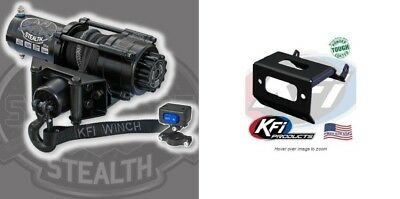 All 3500lb Mad Dog Synthetic Winch//Mount Kit 2015-2019 Honda Rubicon 500 TRX