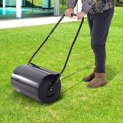 Heavy Duty Push/Tow Lawn Roller Sod Roller Filled w/ Water or Sand