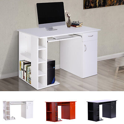 Computer Desk Writing Table PC Workstation Home Organizer w/ Keyboard