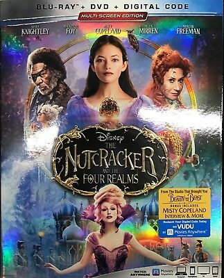 Disney's The Nutcracker and the Four Realms (Blu-ray+DVD+Digital) NEW SEALED