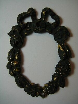 Antique Victorian Ornate Metalwork Cameo Frame-New Orleans French Bordello Bed!