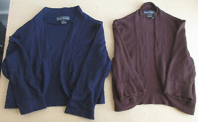 Jessica Howard Bolero Shrug Sweater Long Sleeves Ladies Blue Sz M or Brown  Sz S 3e58dcd9a
