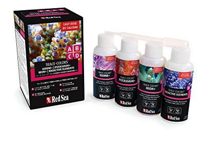 Red Sea R22040 Coral colors A, B, C, D for Coral, 4 x 100 ml