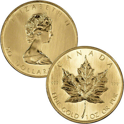 Canada Gold Maple Leaf - 1 oz - $50 - .999 Fine - Random Year