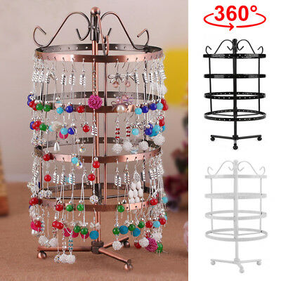 144 Holes Earring Jewelry Necklace Display Rack Metal Stand Holder Organizer