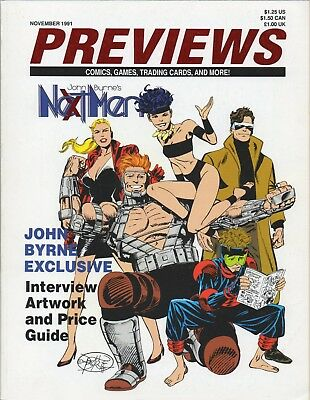 PREVIEWS THE COMIC SHOP'S CATALOG #35 November 1991 John Byrne's Next Men VF