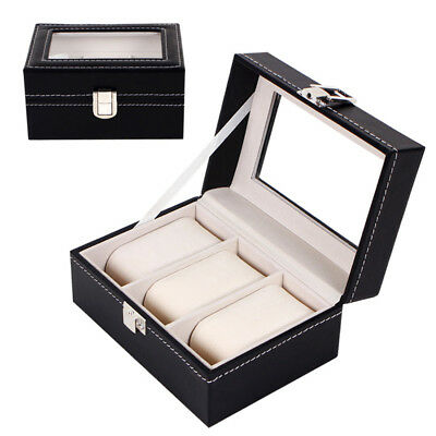 3 Grids Watch Jewelry Storage Holder Box Watches Sunglasses Display Gift
