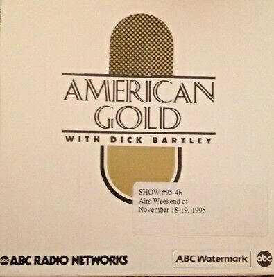 RADIO SHOW: DICK BARTLEYS AM GOLD 11/18/95 TOP 10 DC5 w/GUEST DAVE CLARK & 11/67