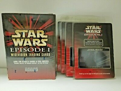 Topps Star Wars Episode 1 Widevision Trading Card 4 Mini Movie Frame Value Lot