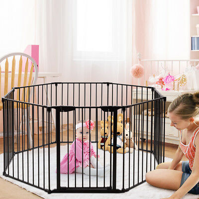 8-Panel Adjustable Baby Safety Playpen Pet Exercise Cage  Multifunctional fence