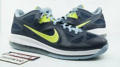 best website ed557 c0ebf Nike Air Max Lebron 9 Used Sz 15 Obsidian Cyber White Blue Grey 510811 401