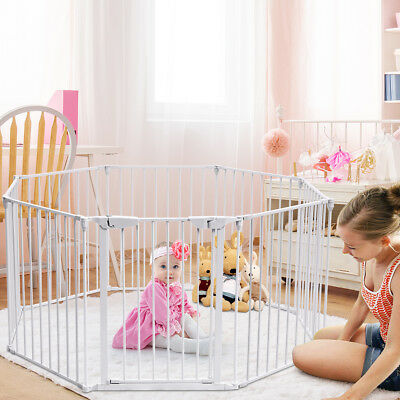 8-Panel Adjustable Baby Toddler Safety Playpen Pet Exercise Cage Multiple fence