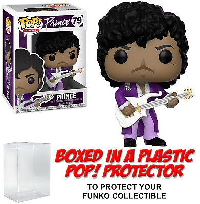 Funko POP! Rocks ~ PRINCE (PURPLE RAIN)(#79) VINYL FIGURE w/Protector Case
