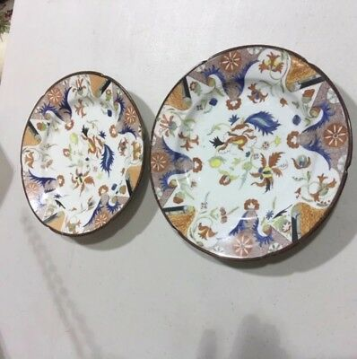 A Pair Of Early 19th Century English Porcelain Cake Plates, Minton?