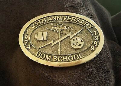 UOM Electrical School Rare! 25th Anniversary vintage Belt Buckle School Kansas