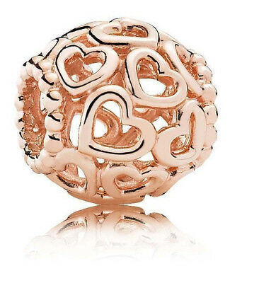 Genuine Pandora Rose Gold Open Your Heart Openwork Charm - 780964