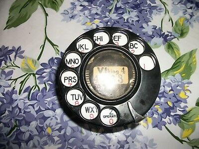 Black A.E. Older Style  Rotary Phone Dial,  Parts