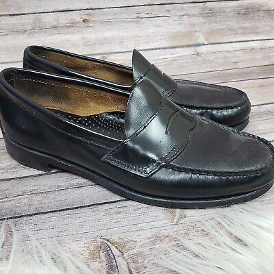 c09c9b01696 GH BASS   Co Weejuns Black Leather Penny Loafer Mens Shoes USA Size ...
