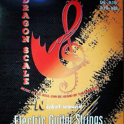 10 Gauge Electric Guitar Strings- Light Weight Nickel Round Wound(15 pack)