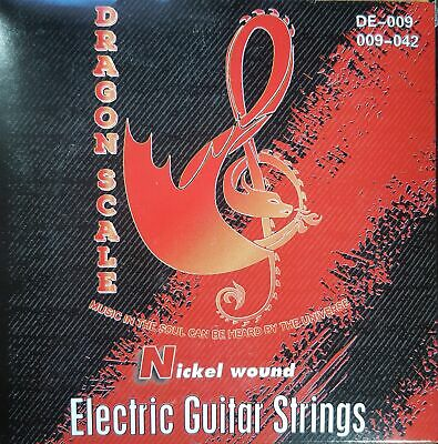 9 Gauge Electric Guitar Strings-Ultra Light Weight Nickel Round Wound (15 pack)