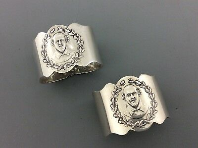 A Pair Of Edwardian Solid Silver Napkin Rings William Shakespeare
