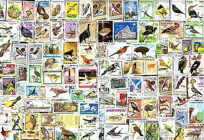 300 All Different  BIRDS ON  STAMPS